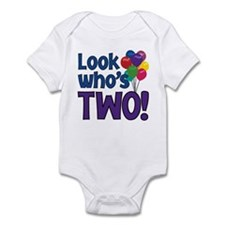 LOOK WHO'S TWO! Infant Bodysuit