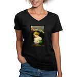 Christmas Hopes Women's V-Neck Dark T-Shirt