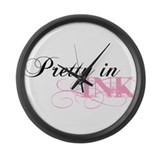 Pretty In Ink Large Wall Clock