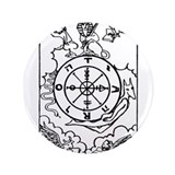 "Wheel of Fortune Tarot Card 3.5"" Button"