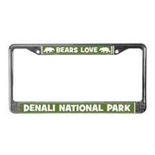 Bears Love Denali National Park License Frame