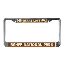 Bears Love Banff National Park License Plate Frame
