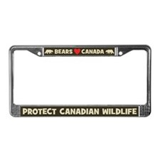 Bears Love Canada License Plate Frame