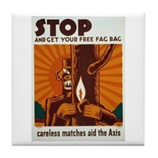 Free Fag Bag WPA Art Tile Coaster