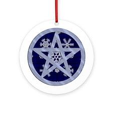 Yuletide Pentagram Ornament (Round)