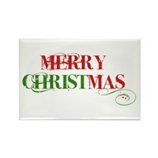 Rectangle Magnet (10 pack) Merry Christmas
