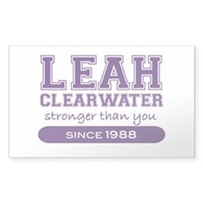 Leah Clearwater, Stronger Tha Rectangle Decal