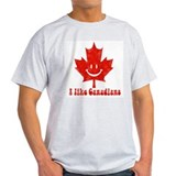 I Like Canadians Ash Grey T-Shirt