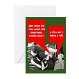 Funny sayings Santa Claus Greeting Cards (Pk of 10
