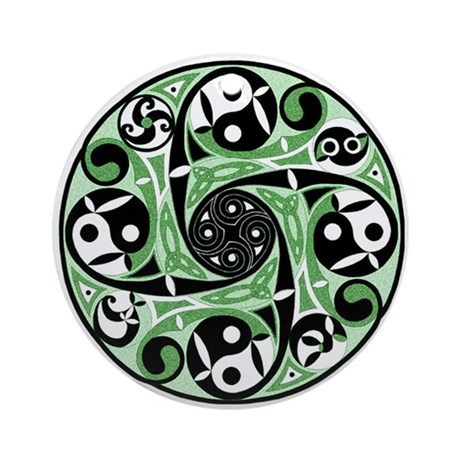 Celtic Spiral Green Keepsake Ornament