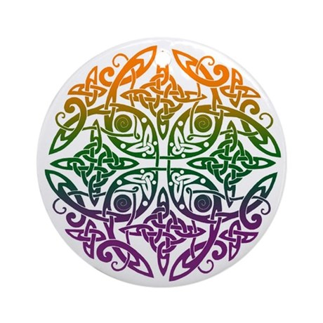 Celtic Knotwork Mandala Keepsake Ornament