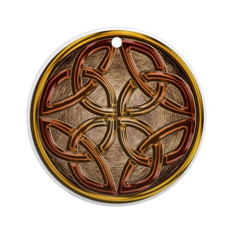 Celtic Bronze Enamel Keepsake Ornament