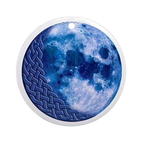 Celtic Crescent Blue Moon Keepsake Ornament