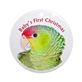Amazon Parrot Baby's 1st Christmas Ornament(Round)