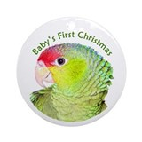 Amazon Parrot Baby's 1st ChristmasOrnament(Round)