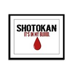 In My Blood (Shotokan) Framed Panel Print