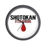 In My Blood (Shotokan) Wall Clock