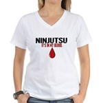 In My Blood (Ninjutsu) Women's V-Neck T-Shirt
