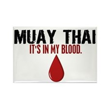 In My Blood (Muay Thai) Rectangle Magnet