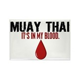 In My Blood (Muay Thai) Rectangle Magnet (100 pack