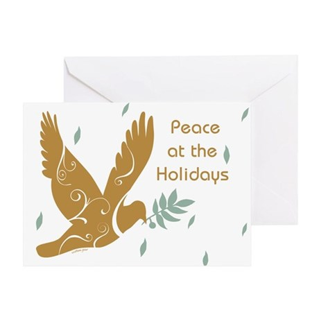 Golden Dove Holiday Greeting Card