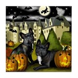 FRENCH BULLDOG DOG HALLOWEEN Tile Coaster