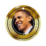Obama Gold Seal Ornament (Round)