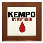 In My Blood (Kempo) Framed Tile