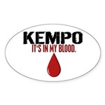 In My Blood (Kempo) Oval Sticker (10 pk)