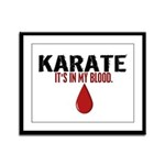 In My Blood (Karate) Framed Panel Print