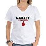 In My Blood (Karate) Women's V-Neck T-Shirt