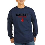 In My Blood (Karate) Long Sleeve Dark T-Shirt