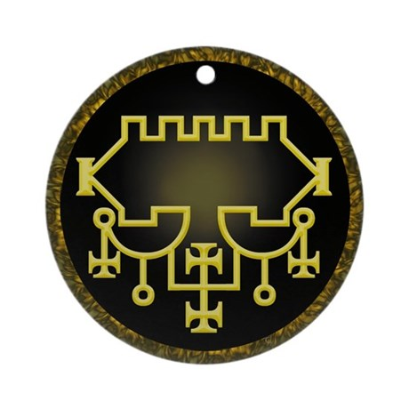 Belial Sigil Ornament (Round) by highpoetry