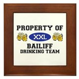 Property of Bailiff Drinking Team Framed Tile