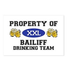 Property of Bailiff Drinking Team Postcards (Packa