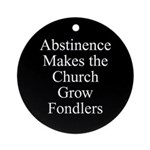 Abstinence Ornament (Round)
