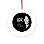 Jefferson Quote Ornament (Round)