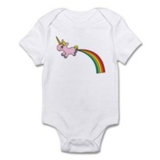 Unicorn Rainbow Poo Infant Bodysuit