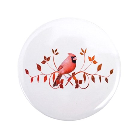 "Graceful Cardinal 3.5"" Button"