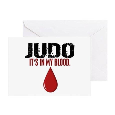 In My Blood (Judo) Greeting Card