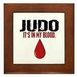 In My Blood (Judo) Framed Tile