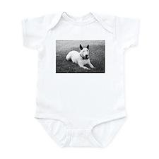 Formal Bull Terrier Black and White Infant Bodysui