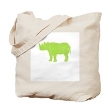 Rhino (Green) Tote Bag