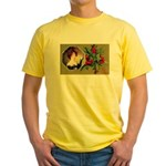 Victorian Christmas Yellow T-Shirt