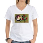Victorian Christmas Women's V-Neck T-Shirt