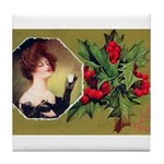 Victorian Christmas Tile Coaster