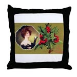 Victorian Christmas Throw Pillow