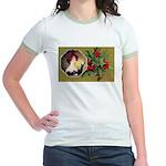 Victorian Christmas Jr. Ringer T-Shirt