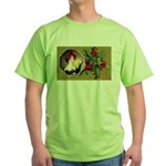 Victorian Christmas Green T-Shirt