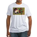Victorian Christmas Fitted T-Shirt